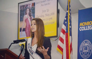 Nia Sanchez Speaks at Monroe College
