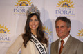 Miss Universe and the Mayor of Doral