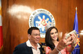 Miss Universe Meets the President of the Philippin
