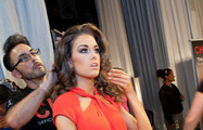 Backstage during the Preliminary Competition