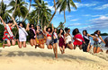 Miss Universe Contestants Beach Celebration