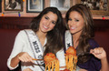 Miss Universe and Miss USA Visit Bucca di Beppo