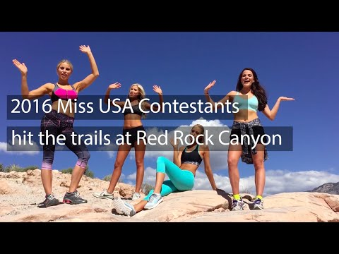2016 MISS USA Contestants hit the trails at Red Rock Canyon