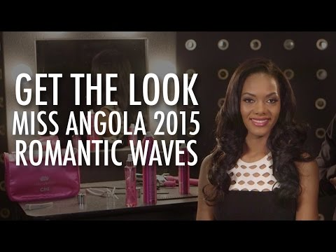 Get the Look  Miss Angola 2015  Romantic Waves